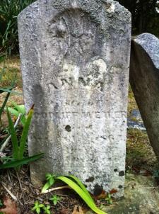 Head stone of Anna [Lane} Weaver