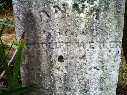 Close up of headstone of Anna [Lane] Weaver